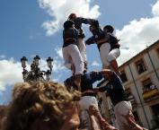 Castellers en las Fiestas