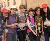 Los escolares realizan el camino de Santiago