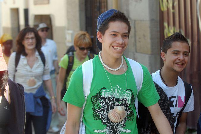 Escolares en el Camino de Santiago-1